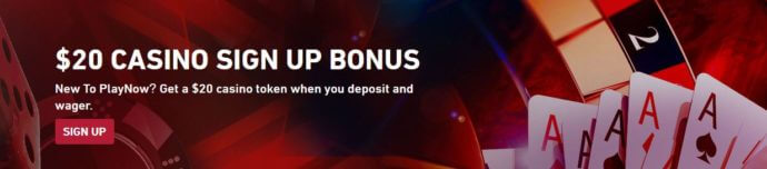 PlayNow Casino Sign Up Bonus