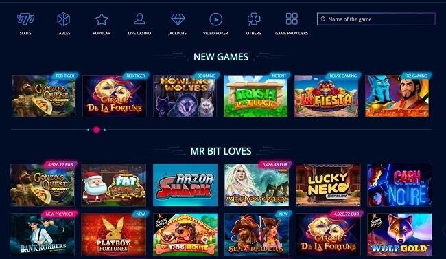Mr Bit Casino Games