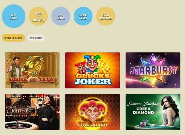 Casino Lab Choice of Games