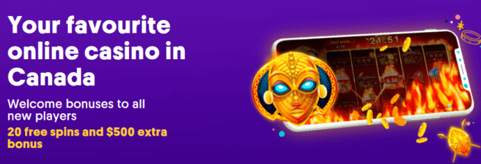 Casumo Casino Bonus - Your favourite online casino - Welcome bonuses to all new players - 20 free spins and $500 extra bonus - Bonus terms and conditions apply