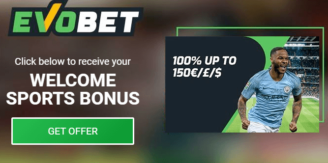 Evobet Bonus - Sportsbook - Welcome Sportsbook bonus up to $150 - Terms and Conditions apply - Read below