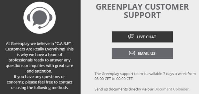 Greenplay Customer Support
