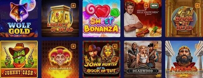 PinoCasino Games Offer