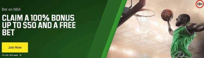 Unibet Canada Bonus Offer Screenshot - Claim a 100% bonus up to $50 + free bet