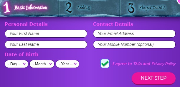 Wizard Slots Registration