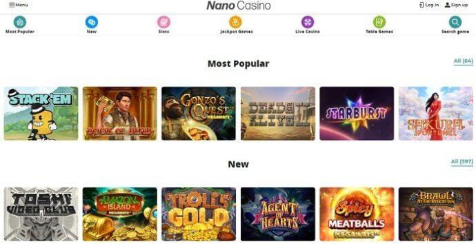 NanoCasino Games
